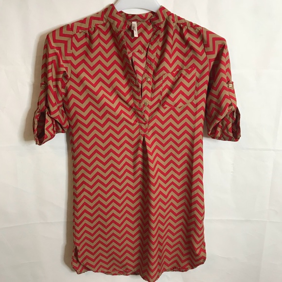 Truth NYC Dresses & Skirts - Truth NYC Chevron Shirt/Dress Size Large